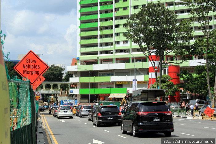 На одной из улиц Сингапура