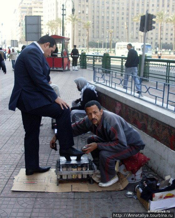 Уличная чистка обуви