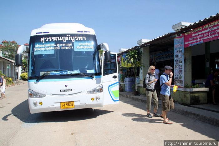 Едем на автобусе а Слоновий остров