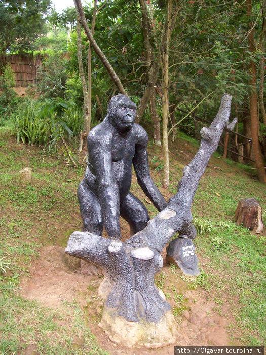 Серебряная Спина в исполнении угандийского Родена