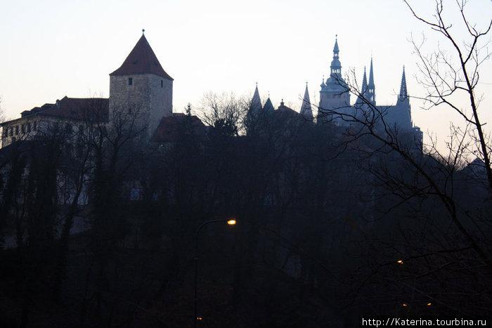 Вид на Пражский град.