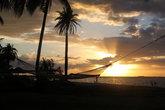 Гамак и пальмы на закате
