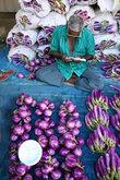 Фиолетовый лук и фиолетовые баклажаны