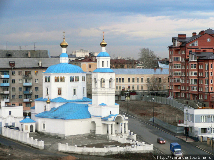 Вид на город с кремлевского холма.