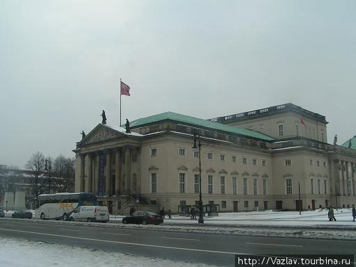 Здание театра со стороны Унтер ден Линден