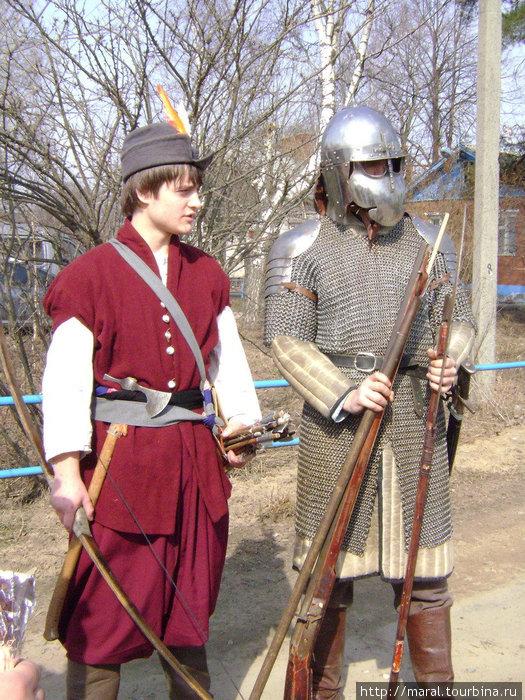 Русский поместный кавалерист и польский пехотинец