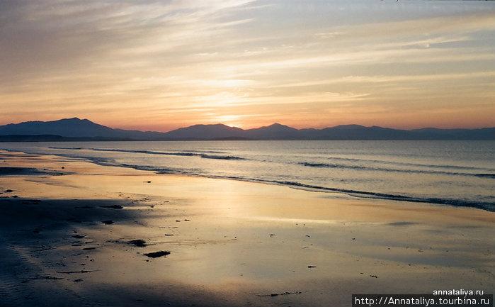 Закат на Охотском море