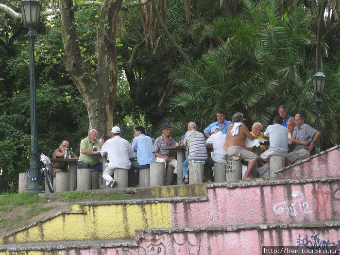 Аргентинские мужчины на отдыхе