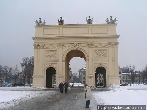 Оборотная сторона Бранденбургских ворот