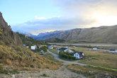Вид на поселок Чалтен с горы