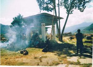 Священнодействие около монастыря Дунгце-Лакханг