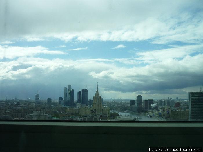 Панорама из лифта
