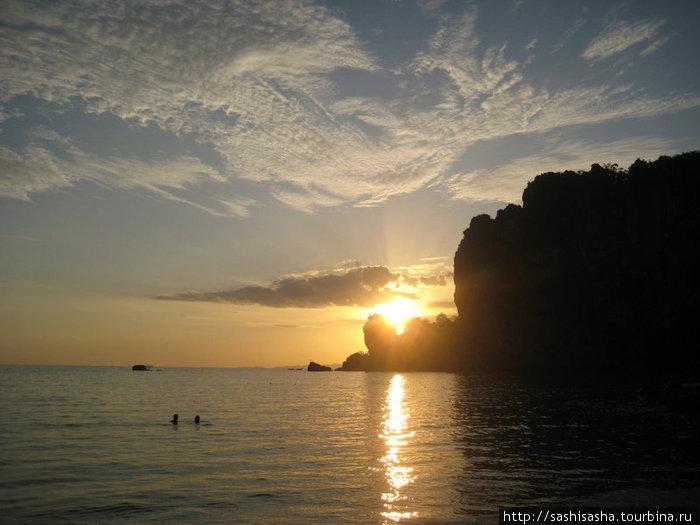 Закат на Тонсай-Бич