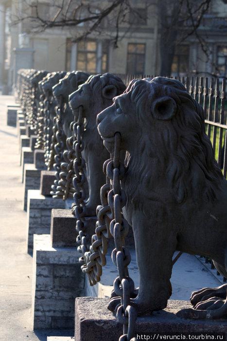 Ограда из 29 львов у дома Безбородко.