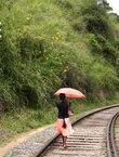 Это не от дождя, это от солнца! И косы у девушек невероятной длины.