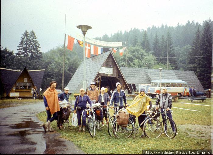 Юг Польши, Висла. Слет велотуристов. Фото с земляками — уральцами.