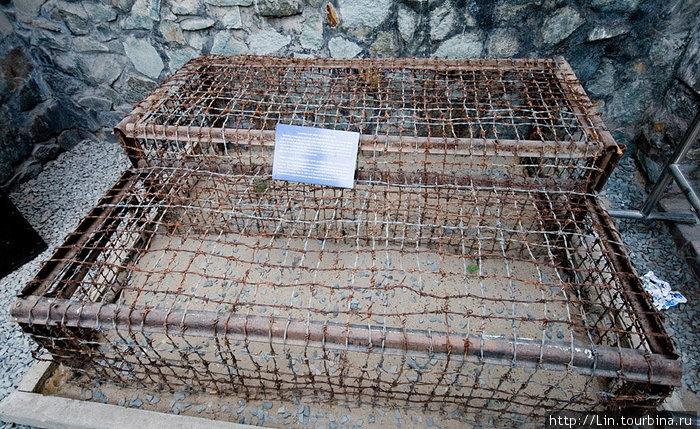 клетки в котрых держали пленных вьетнамцев