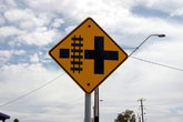 Знак перед перекрестком