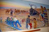 На стенах картины об истории освоения региона