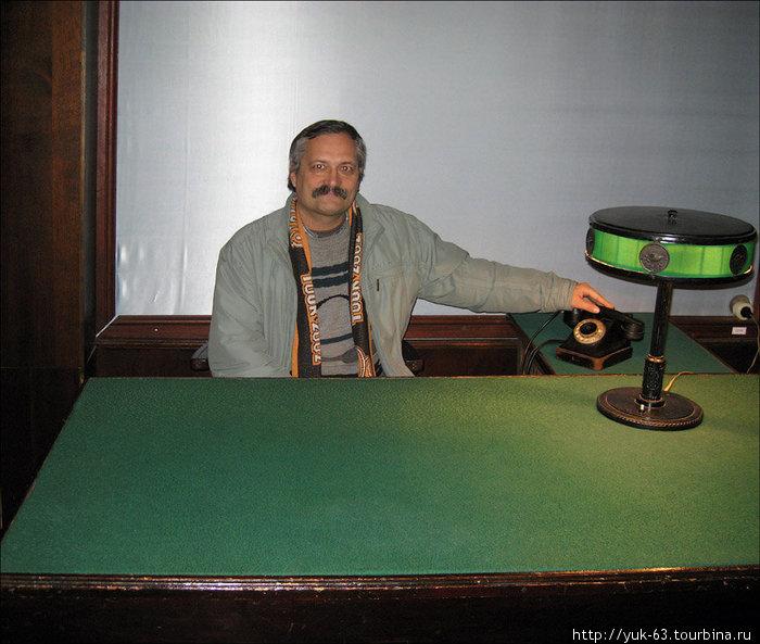 В рабочем кабинете И.В.Сталина