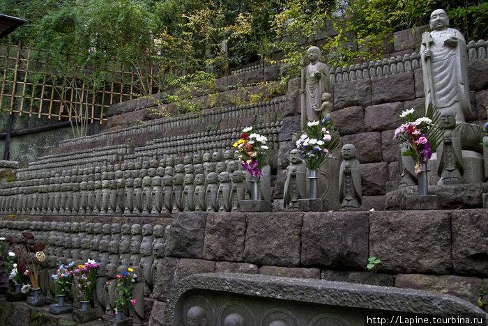 Толпы Дзидзо вокруг Дзидзо-до в храме Хасэ-дэра
