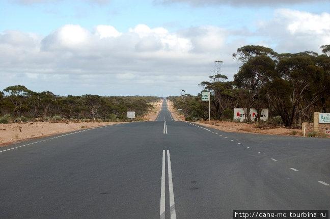 Прямая дорога, уходящая за горизонт