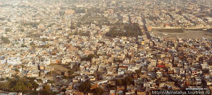 Вид на Джайпур из Тайгер-Темпла