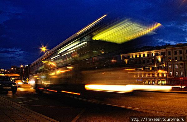 Проезд на автобусе в Риге стоит 70 сантимов — один евро