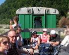 В 11 с небольшим трамвай начал движение.