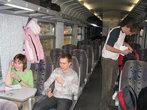 Днем в поезде ваша компания может легко оказаться единственной в вагоне