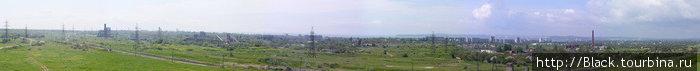 Панорама с царского кургана. Жаль формат в  маленький, особо ничего не видно:)