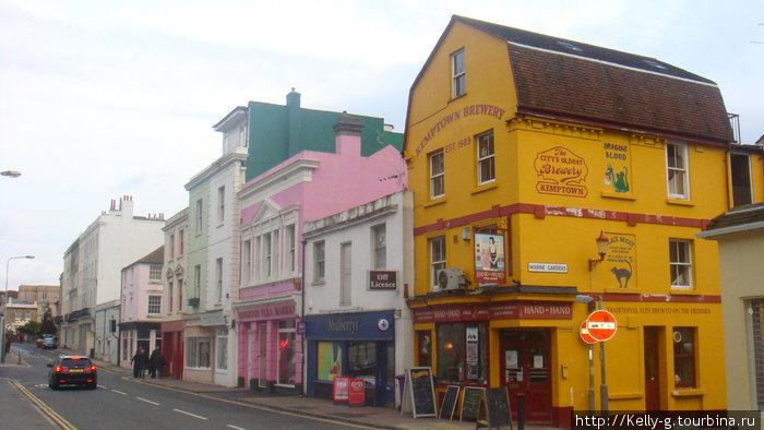 Разноцветные домики в Kemptown