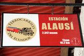 Табличка на станции Алауси