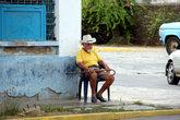 Пенсионер на стуле