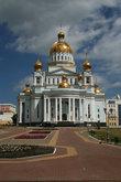 Самое высокое место городского центра. Здесь до революции размещался Петропавловский монастырь. В 2002 году было принято решение превратить перекресток в новую Соборную площадь.
