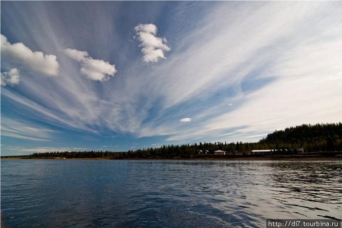 Варзуга полноводна... панорама Мельничного ручья