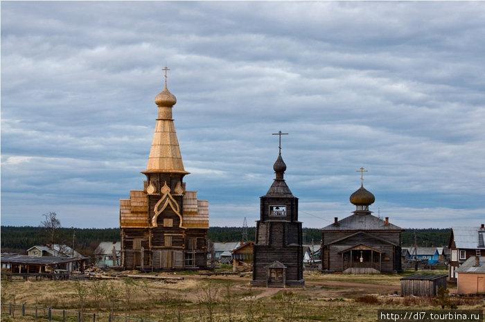 Все три церкви правого берега Варзуги