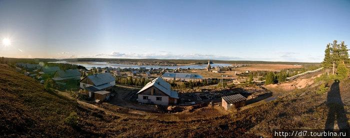 Панорама Варзуги от школы