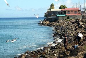 На окраине поселка Гояве — рыбное место
