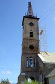 Колокольня ремонтируемой церкви