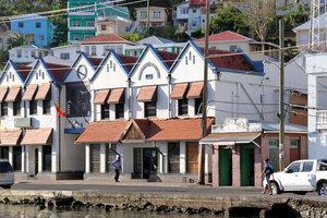 Дома на берегу Карибского моря