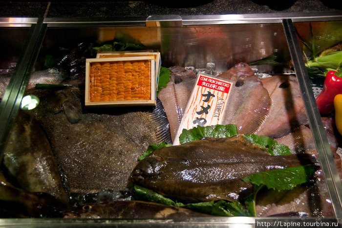 Рыбный прилавок в ресторане отеля