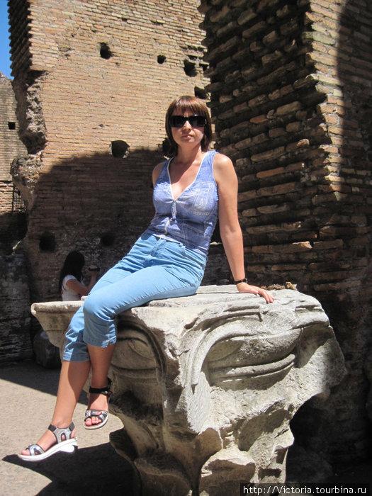 Хотела изобразить античную статую, но постамент оказался высоковат. Потому ограничилась промежуточным вариантом.