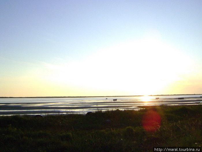 Остров Ягры. Закат над Бе