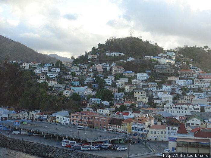 Гренада: вид с лайнера