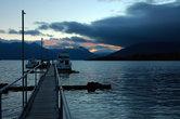 Закат на озере Те-Анау