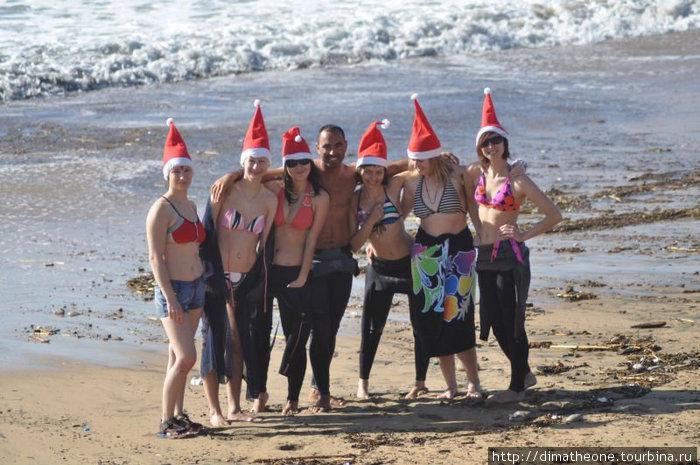 новогодние забавы близ плещущейся Атлантики