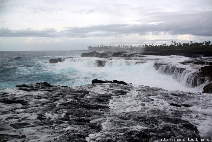 На берегу океана у Алофага Блоухолс