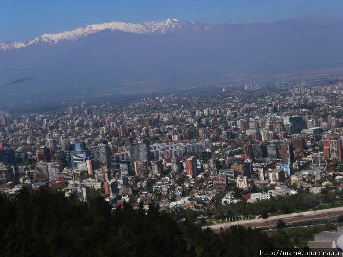 Вид на Сантьяго.