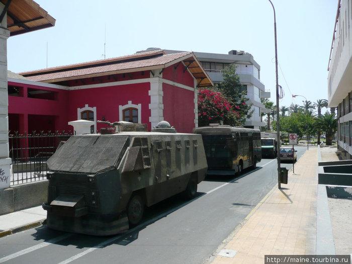 Туристические автобусы в каких в Чили возили социалистов и комми. г.Арика.